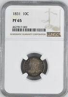 1831 CAPPED BUST 10C NGC PR 65