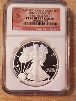 2012 S NGC PR70 FIRST RELEASE  PROOF FROM SF TWO COIN SET