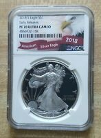 2018 S NGC PF 70 EARLY RELEASE PROOF AMERICAN SILVER EAGLE