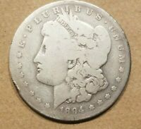 1894 S MORGAN SILVER DOLLAR LIBERTY HEAD $1 COIN AMERICAN EAGLE NICE