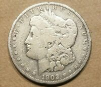 1902 P MORGAN SILVER DOLLAR LIBERTY HEAD $1 COIN AMERICAN EAGLE NICE