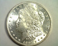 1897 TOP 100 PITTED REVERSE VAM 6A MORGAN SILVER DOLLAR CHOICE UNCIRCULATED