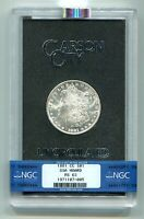 1881-CC GSA CARSON CITY MORGAN SILVER DOLLAR NGC MINT STATE 63 PREMIUM QUALITY ORIGINAL