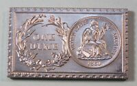 1860 U. S. SEATED LIBERTY DIME NO STARS NUMISTAMP MEDAL COIN 1974 MORT REED