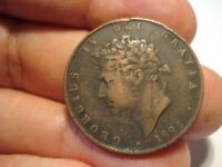 GREAT BRITAIN   1/2  PENNY  1825
