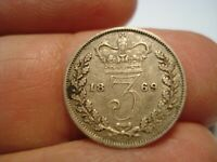 GREAT BRITAIN   SILVER    3 PENCE   1869