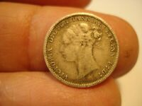 GREAT BRITAIN   SILVER    3 PENCE   1885