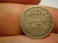 GREAT BRITAIN   SILVER    3 PENCE   1899