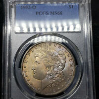 1902-O MINT STATE 66 MORGAN SILVER DOLLAR $1, PCGS GRADED, LY TONED