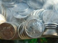 45 MERCURY DIMES   90  JUNK SILVER   MIXED CONDITION   EST.