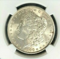1900 MORGAN SILVER DOLLAR  NGC MINT STATE 63 BEAUTIFUL COIN REF88-031