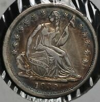 1839 H10C LIBERTY SEATED SILVER HALF DIME COIN