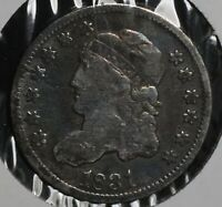 1831 H10C CAPPED BUST HALF DIME COIN