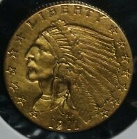 1911 GOLD TWO AND A HALF DOLLARS INDIAN G$2.50 QUARTER EAGLE