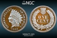 NGC PF 67 CAMEO 1869 INDIAN HEAD CENT  JAW DROPPING PROOF FI