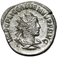 HIGH QUALITY SILVERED ROMAN COIN OF GALLIENUS