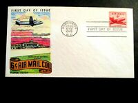 1949 US SC41  6C AIRMAIL DC $ COIL FIRST DAY ISSUE A HERMASN