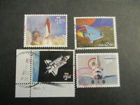 US SET OF 4V EXPRESS MAIL SPACE THEMED POSTAGE STAMPS USED