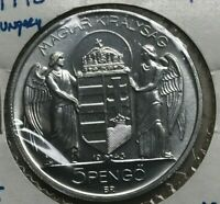 1943 HUNGARY 5 PENGO   GEM UNCIRCULATED ALUMINUM