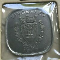 1917 VINCENNES 20 CENTIMES   ALUMINUM FRENCH NOTGELD