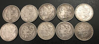 LOT OF 10 UNITED STATES MORGAN SILVER DOLLARS 5-1878 5-1879