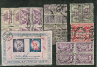 UNITED STATES LOT OF STAMPS IN BLOCKS OF 4 AND MINISHEET USE