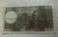 1972 FRANCE 10 FRANCS   WORLD CURRENCY BANK NOTE
