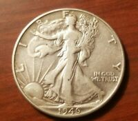 1946 P WALKING LIBERTY HALF DOLLAR 50 CENTS SILVER COIN FIFTY 1/2 AU ABOUT UNC