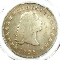 1795 FLOWING HAIR SILVER DOLLAR $1 COIN - PCGS F15 -  DATE - $4,750 VALUE