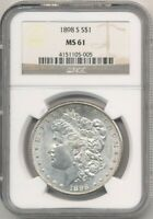 1898-S MORGAN SILVER DOLLAR NGC MINT STATE 61