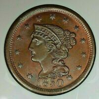 1850 1C NGC MINT STATE 65 RB