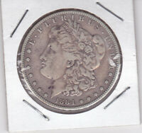 1884 MORGAN SILVER DOLLAR 90 SILVER $1 COIN, PHILADELPHIA MINT