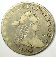 1806 DRAPED BUST HALF DOLLAR 50C - VF DETAILS CONDITION -  EARLY COIN