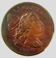 1794 LIBERTY CAP LARGE CENT 1C COIN - CERTIFIED PCGS VF DETAILS -  COIN