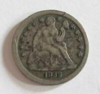 1856 U.S. DIME   SEATED LIBERTY   BETTER GRADE   90  SILVER