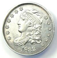 1832 CAPPED BUST HALF DIME H10C COIN - CERTIFIED ANACS MINT STATE 60 DETAILS UNC MS