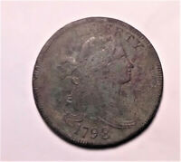 1798 S 149 R 4  1ST HAIR LARGE 8 DRAPED BUST LARGE CENT COIN