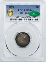 1798 DRAPED BUST 10C PCGS MINT STATE 64