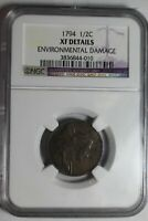 1794 HALF CENT NGC EXTRA FINE  DETAILS 010