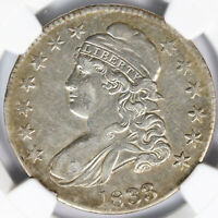 1833 50C CAPPED BUST HALF DOLLAR NGC AU DETAILS CLEANED