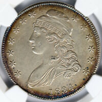 1834 50C CAPPED BUST HALF DOLLAR NGC AU DETAILS CLEANED