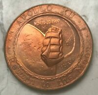 APOLLO XII BRONZE MEDAL PROOF RETURN TO THE MOON