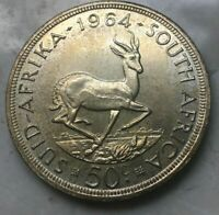 1964 SOUTH AFRICA 50 CENTS   BIG SILVER PROOF