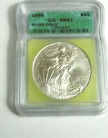 1996 AMERICAN SILVER EAGLE ICG MINT STATE 67 KEY DATE BEAUTIFUL COIN A097 GREAT GIFT