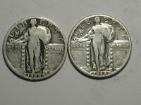 1928-P AND 1928-D STANDING LIBERTY QUARTERS