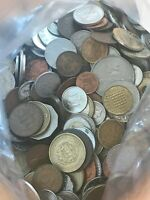 5 LBS  POUNDS  OF BULK WORLD  FOREIGN  COINS   FREE US SHIPPING/SEE DESCRIPTION
