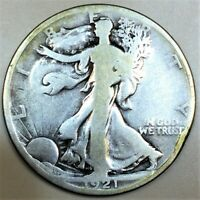 1921 D WALKING LIBERTY HALF DOLLAR BEAUTIFUL COIN RARE DATE