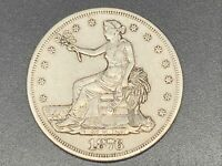 1876 S TRADE US SILVER DOLLAR $1 DOUBLING ON BACK? PLEASE SE