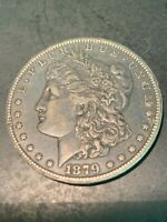 TOP 100 VAM 3 MORGAN SILVER DOLLAR 1879 CC CAPPED DIE--DR. FEY COLLECTION