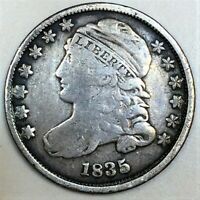1835 CAPPED BUST DIME BEAUTIFUL COIN RARE DATE